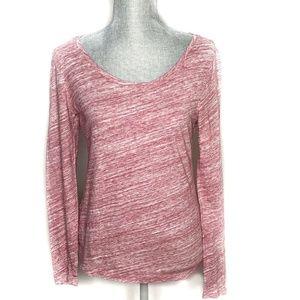 LOFT Top Round Neck Shirt Space Dye Long (BB3)
